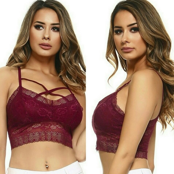 1fbd559385b71 Gorgeous Boutique Crisscross Bralette Sale